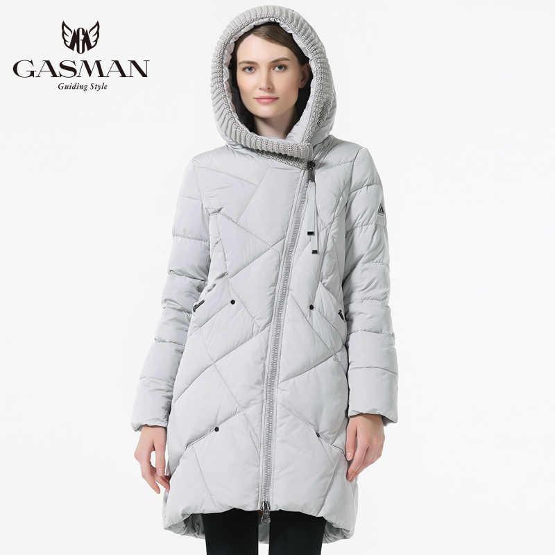 GASMAN 2019 겨울 컬렉션 브랜드 패션 두꺼운 여성 겨울 바이오 다운 재킷 후드 여성 파카 코트 플러스 사이즈 5XL 6XL 1702