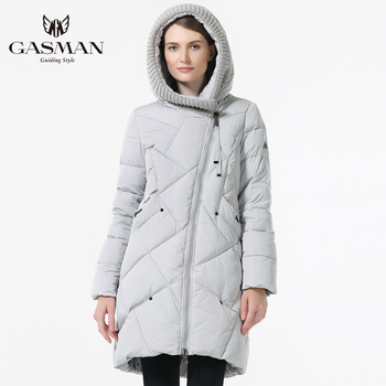 GASMAN 2019 Winter Collection Brand Fashion Thick Women Winter Bio Down Jackets Hooded Women Parkas