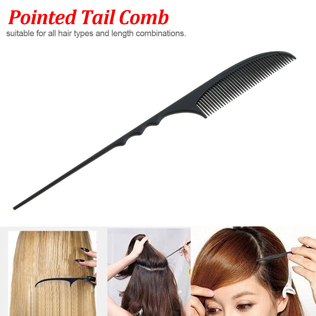 Pointed Tail Comb Clip Design Brush Tools Hair Pointed Tail Hairdressing Styling Comb Nice Type Hairbrush Carbon fiber Tools