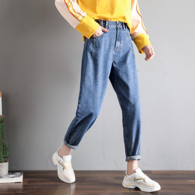 GCAROL New Women 93% Cotton Blends Pencil Denim Pants High Waisted High Street Boyfriend Style Jeans In 3 Colors Plus Size 26-32 16