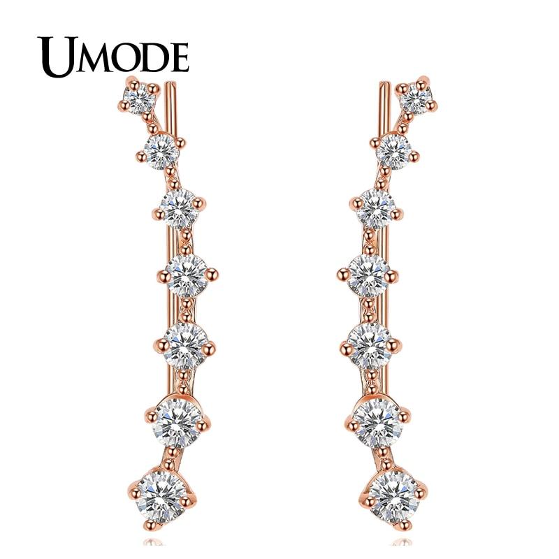 UMODE Modni nakit Četiri zupca Postavljanje 7pcs Uho Hook Crystal - Modni nakit - Foto 6
