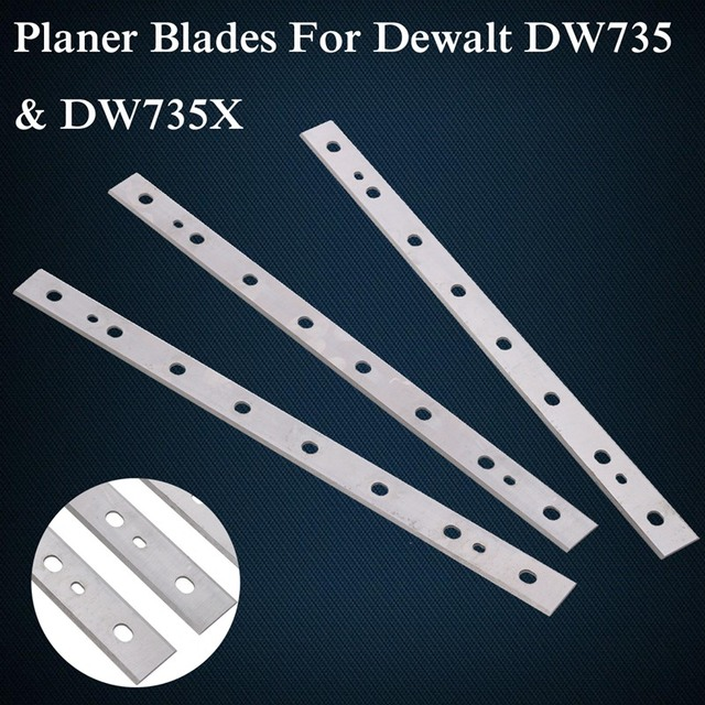 US $24 67 16% OFF|Top Quality 3PCS 13inch High speed Steel Planer Blades  For Dewalt DW735 DW735X Replacement Part Woodworking Blades-in Tools from
