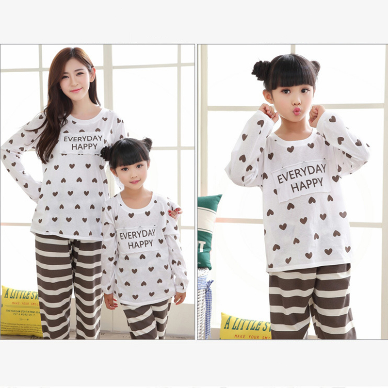2018 Family Striped Christmas Pajamas Pure Cotton Pyjamas Kids Girls Long  Sleeve Pijamas Mother and daughter clothes-in Matching Family Outfits from  Mother ... fedd97d7d