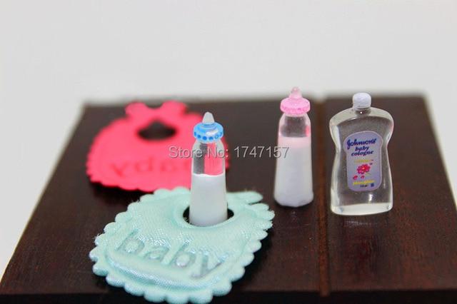 Baby Slaapkamer Accessoires : Poppenhuis poppenhuis miniatuur baby flessen bib body wassen