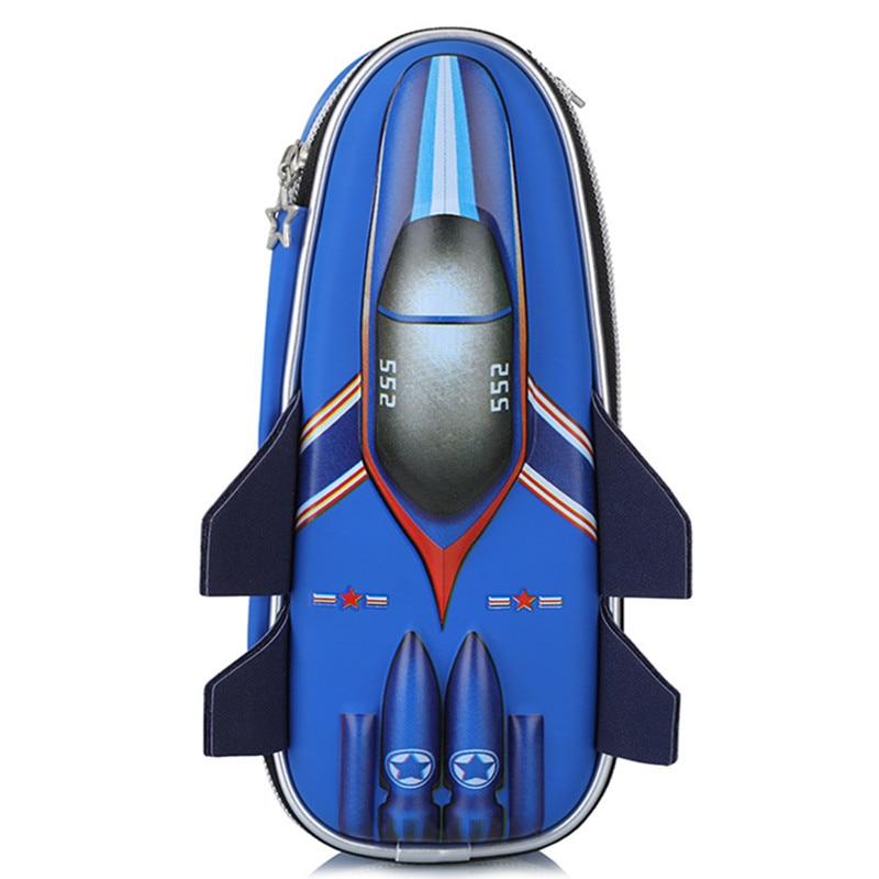 EVA Aircraft Pencil Case For Boy,large Capacity Cute School Pencil Box,high Quality Pen Case Pen Pouch Bag,blue Gray Available