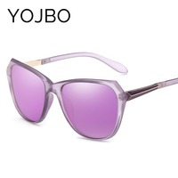 YOJBO Fashion Polarized Mirror Sunglasses Women Brand Designer 2017 New Luxury Men Glasses Uv400 Ray Oval