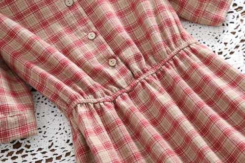 Mori girl летнее платье 2018 Новое модное женское клетчатое винтажное платье с коротким рукавом женское хлопковое длинное платье clothing одежда
