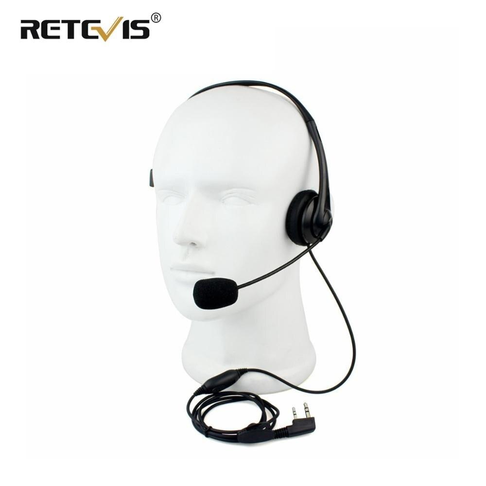 2Pin Walkie Talkie Headset Sponge Earpad Earpiece PPT Mic Accessories For Kenwood Baofeng UV-5R BF-888S Retevis H777 RT5R C9009A