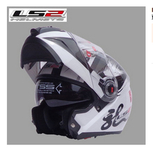 Free shipping dual lens LS2 FF370 motorcycle helmet visor exposing new cost-effective full-face helmet / Special white printing