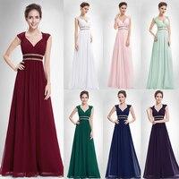 Formal Prom Dresses Long XX79680PE Ever Pretty Women Elegant V Neck Sleeveless Empire Party Gowns Dresses