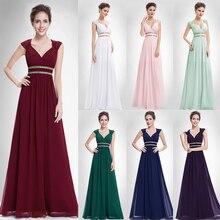 Бордовые Выпускные платья 2020 длинное XX79680PE Ever Pretty женское Формальное элегантное платье для выпускного вечера шифоновое вечернее платье трапециевидной формы
