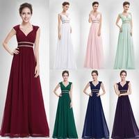 Burgundy Prom Dresses 2018 Long XX79680PE Ever Pretty Women Formal Elegant Gala Dress for Graduation Chiffon A Line Party Gown