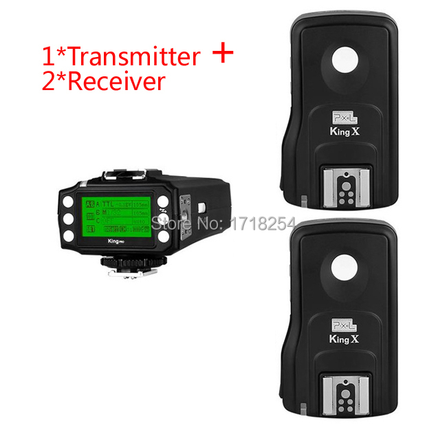 Pixel King Pro Wireless 1/8000s I-TTL Flash Trigger with 2 Receivers for Canon 580EX 600EX 430EX 5D Mark II III 5D3 5D2 6D 70D