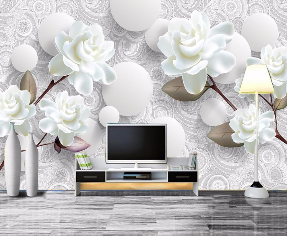 European Luxury 3D Wallpaper Mural Photo Flower Brief 3D