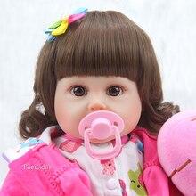 20″ New arrival Handmade Silicone vinyl adorable Lifelike  toddler Baby Bonecas girl kid bebe doll reborn menina de silicone