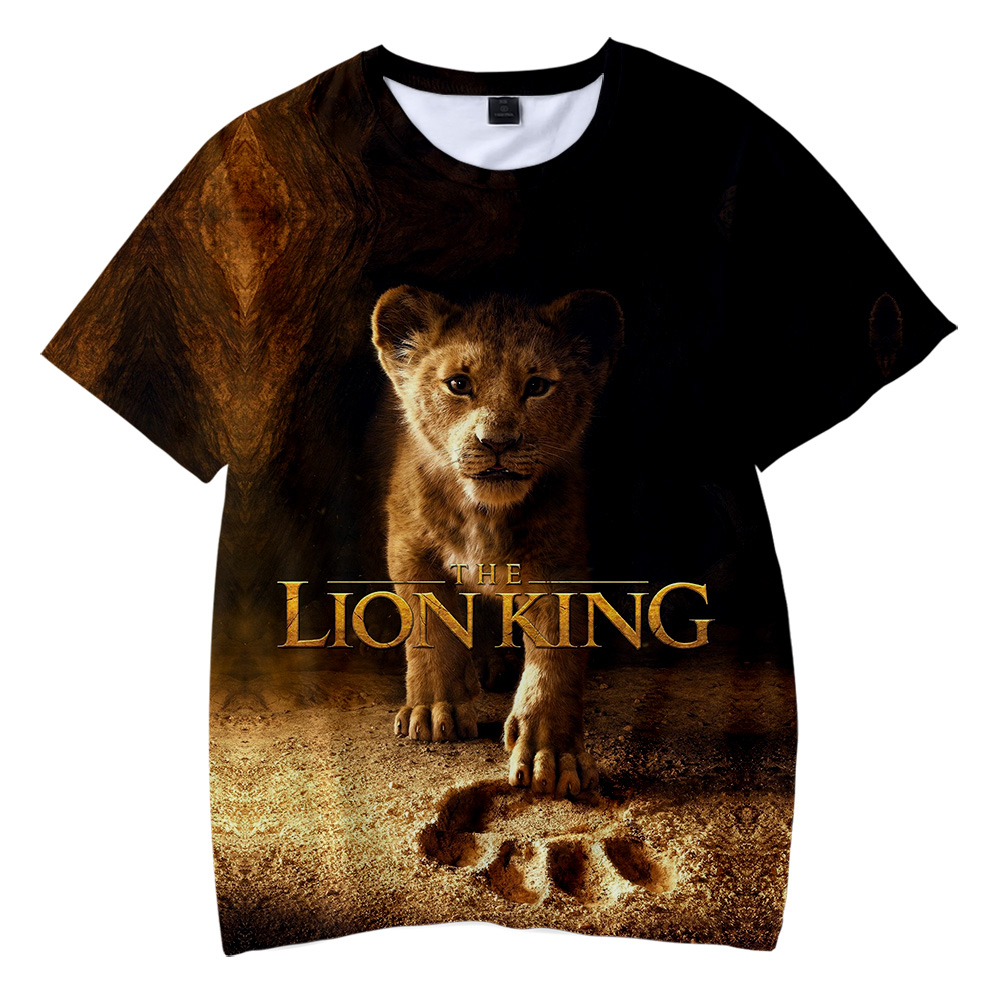 2019 NEW Film glory kingdom King The Lion King Simba 3D Children's wear Boy/girl kids Casual   t     shirt   Short Sleeve Clothes