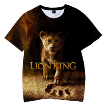 2019 NEW Film glory kingdom King The Lion Simba 3D Childrens wear Boy/girl kids Casual t shirt Short Sleeve Clothes