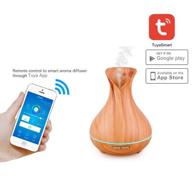 Humidificador de aire WiFi inteligente aceites esenciales incienso compatible Alexa y Google Home amazon máquina de aromaterapia inteligente