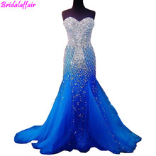 Royal Blue Formal Dresses Sexy Elegant Mermaid Prom for Pageant Sweetheart Women Long Evening Dress Tulle Party Gowns