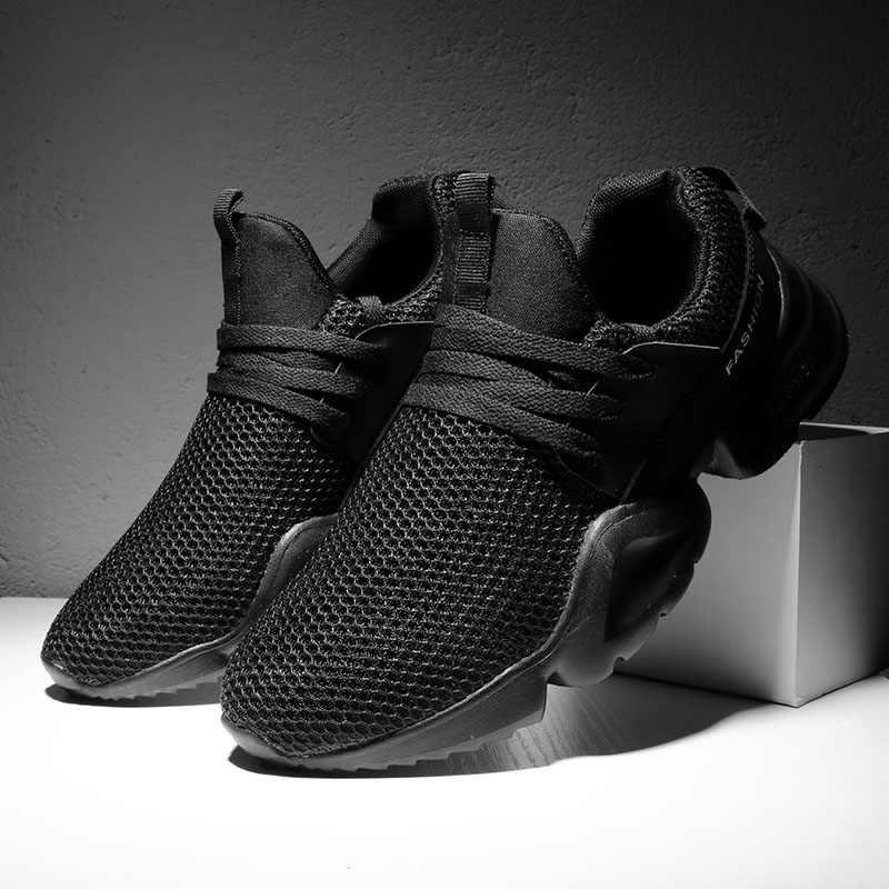 Reetene/повседневная мужская обувь; коллекция 2019 года; дышащие сетчатые мужские кроссовки; Легкая летняя мужская обувь; обувь на плоской подошве со шнуровкой; обувь инструкторов; Homme