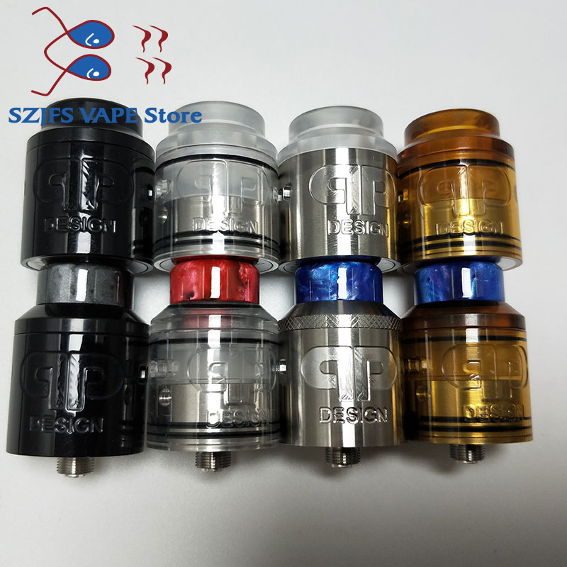 QP KALI RDA Fatality RDA Atomizer Drip Oil DIY 25mm 316 Stainless Steel And PC Pei Vape Vaporizer Vs Apocalypse GEN 25 RDA QP V2