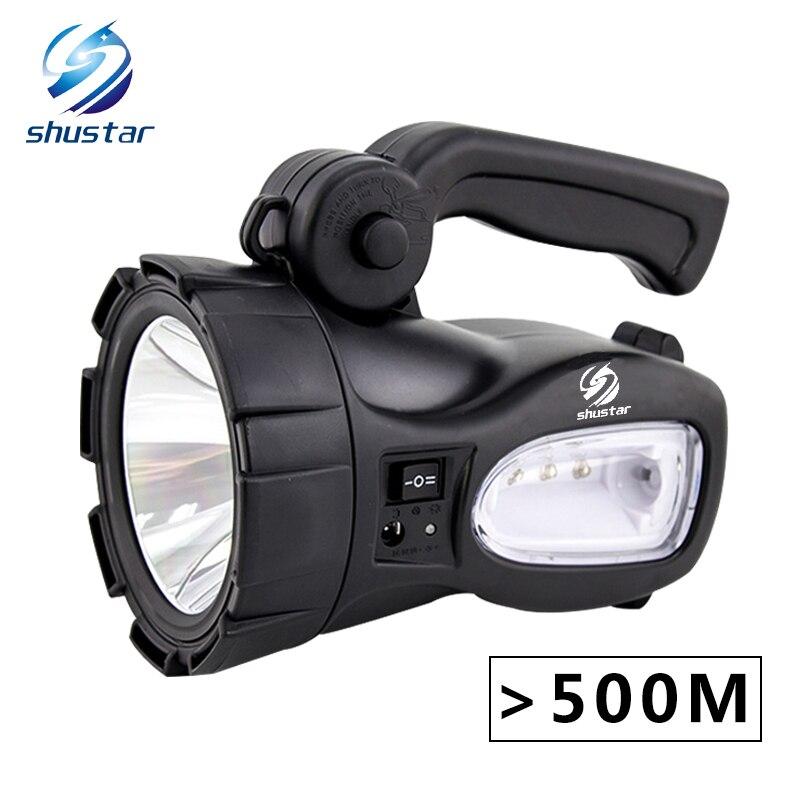 Перезаряжаемый яркий светодио дный светодиодный фонарик 20 Вт мощный прожектор встроенный 2300 мАч литиевая батарея два режима работы