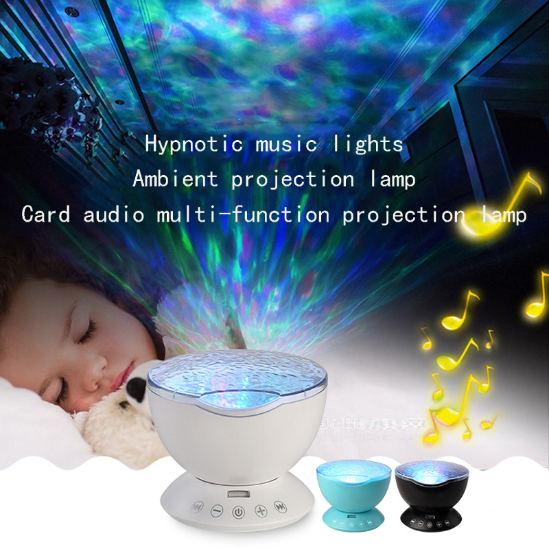 Hypnotic music atmosphere projection card stereo multi - function marine remote control projection lamp vale music fest 2017 green card 7 dias