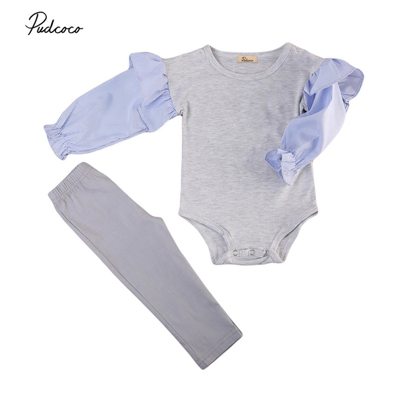 0 to 3T Infant Kids Baby Girls Clothes Long Sleeve Tops +Pants Leggings 2PCS Outfits Baby Clothing