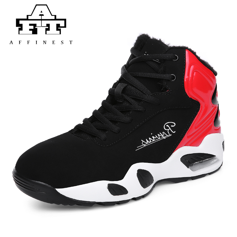 bas prix c2fa6 3c797 US $32.8 |AFFINEST Basketball Shoes For Men With Fur Keep Warm Sneakers  Lebron James Shoes High Top Ankle Sport Shoes femme homme -in Basketball  Shoes ...