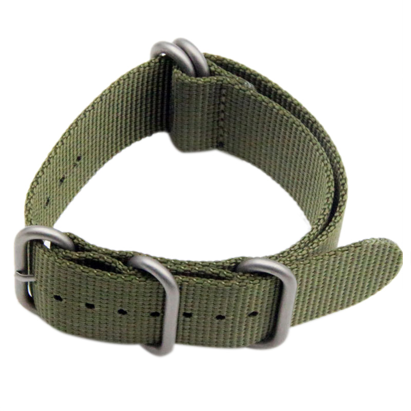 Luxury Nylon Watch Band Strap For Garmin Fenix 3 Replacement Watchband Hot Color Amy Green 26mm