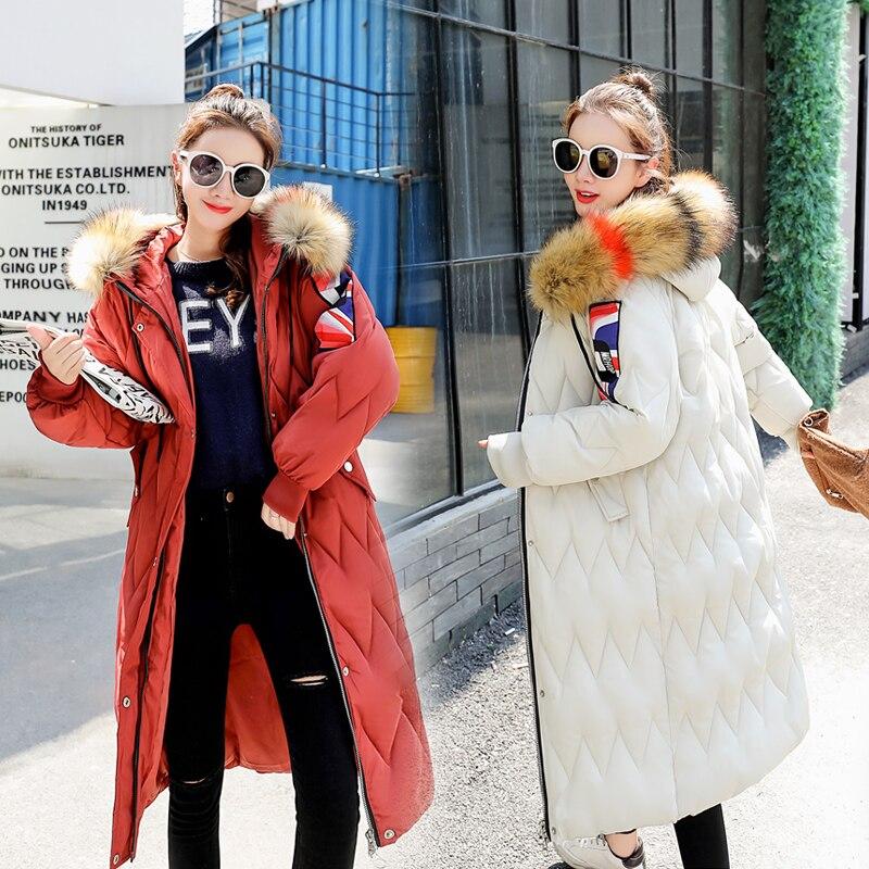noir Plus 3xl 2018 Et Femmes Manteau M Noir Manteaux Hiver D'hiver brick Beige Dames La Taille Épais Parka caramel Red Long Vestes wrIXIUzxq