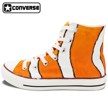 New Shoes Clownfish Hand Painted Shoes Converse Chuck Taylor High Top Canvas Sneakers Christmas Gifts for Boys Girls