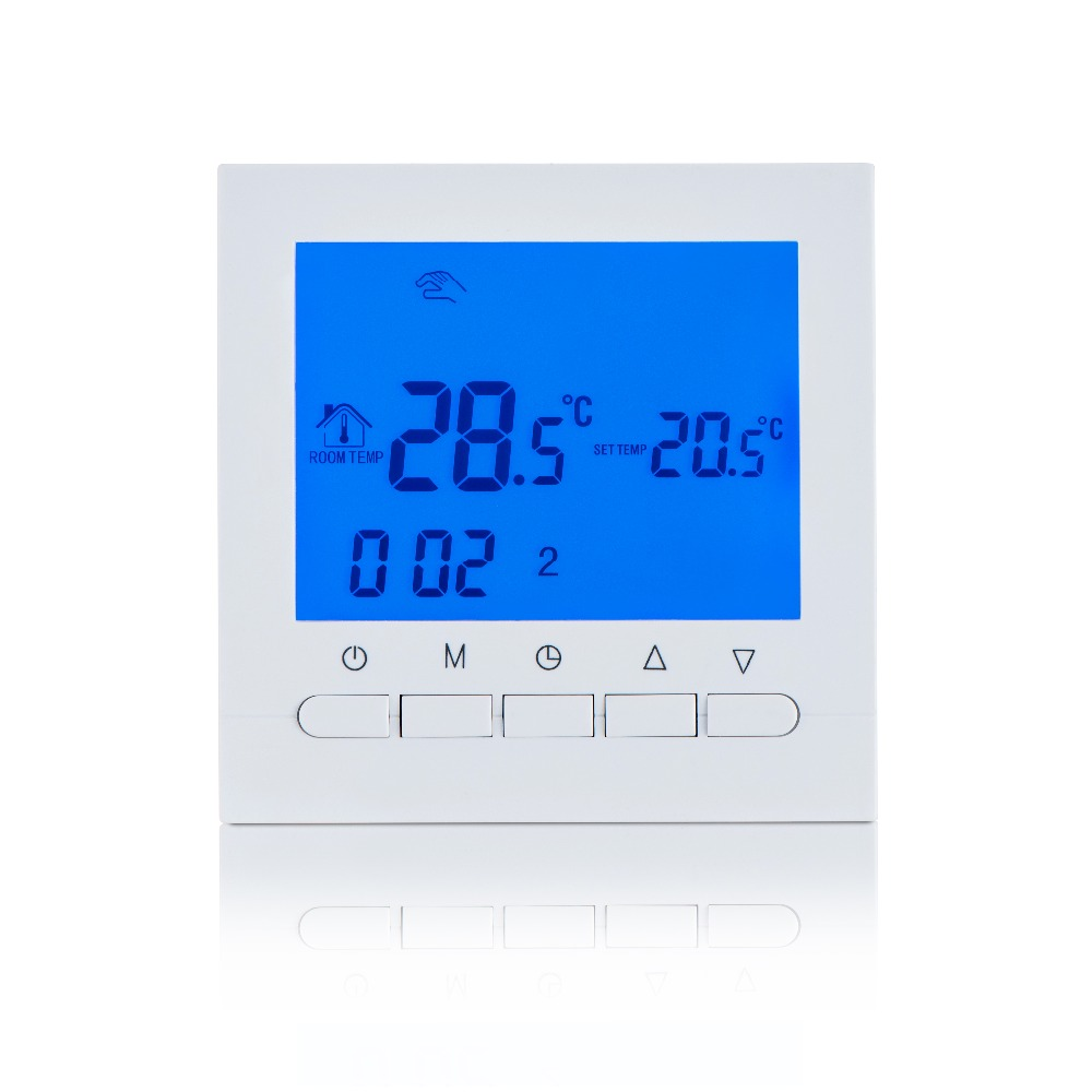 Gas Boiler Heating Thermostat Battery Power Digital LCD Screen Thermostat For Boiler Room Thermoregulator