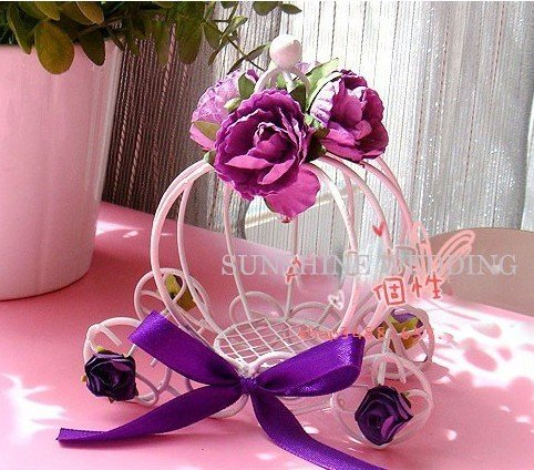 Holiday Wedding Gift Metal Candy Box With Flower Decoration Th J26