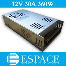 10piece/lot 360W 12V 30A Switching Power Supply Driver for LED Strip AC 100-240V Input to DC 12V good quality(China (Mainland))