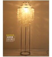 Modernas carcasas nórdicas naturales lámpara de pie dormitorio comedor lámparas de pie