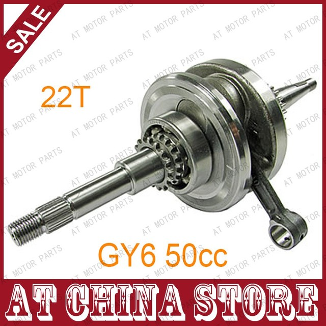 22T Crankshaft with 22 teeth for GY6 49cc 50cc 139QMB 139QMA Scooter Moped ATV Go Kart Quad