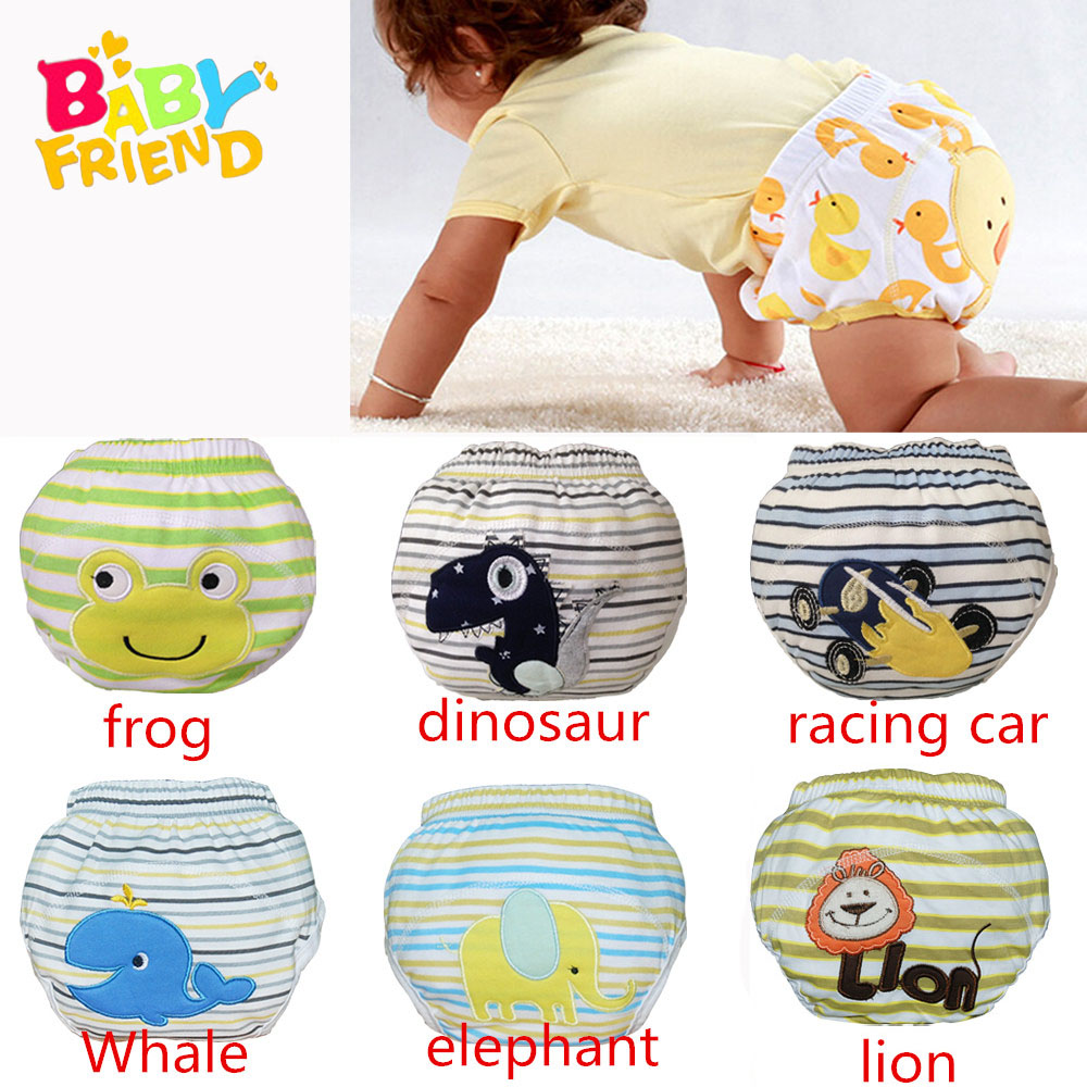 Babyfriend New Cute Cotton Baby Kids Potty Training Pants Reusable Toilet Diaper Nappy Pants Washable Toilet Training Underwear