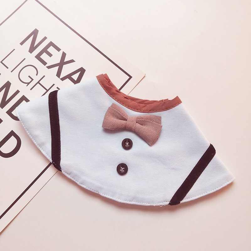 Ins nuevo estudiante Caballero 360 babero redondo bebé algodón saliva toalla bebé pajarita collar de modelado 0-3 años viejo personalizable nombre
