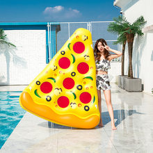 180*150CM Inflatable Pizza Slice Giant Swimming Pool Water Toy Holder Giant Pizza Floating Bed Raft Swimming Ring Air Mattress(China)