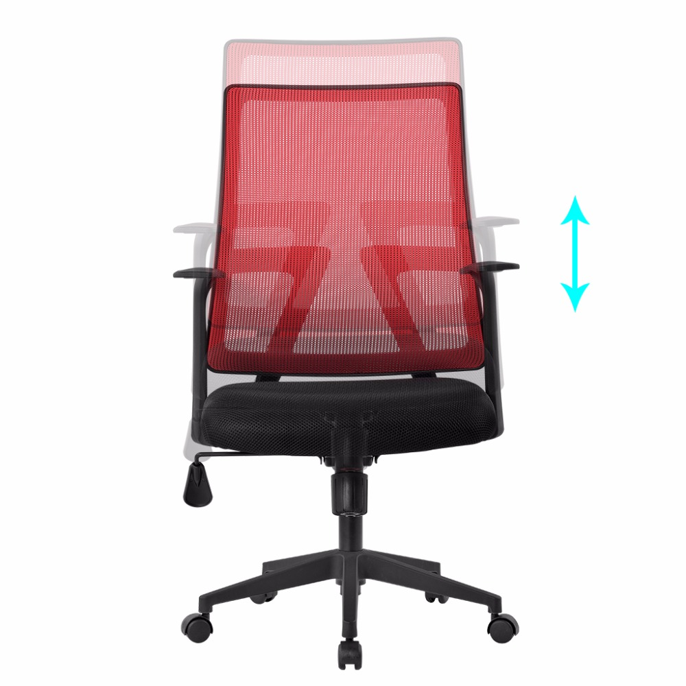 LANGRIA Office Chair Mid Back Swivel Mesh Task Adjustable Office Boss Lift  Chairs With Synchro Tilt Computer Seat In Office Chairs From Furniture On  ...