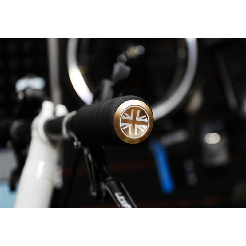 Brompton Bicycle Logo Handlebar End Plugs