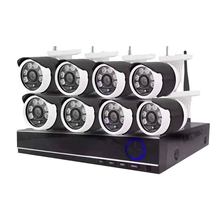 CWH 720 P Wi Fi видеонаблюдения Камера Системы 1MP Wi Fi IP пули Камера IP66 Водонепроницаемый Wi Fi NVR Наборы CCTV Системы наблюдения Наборы дома