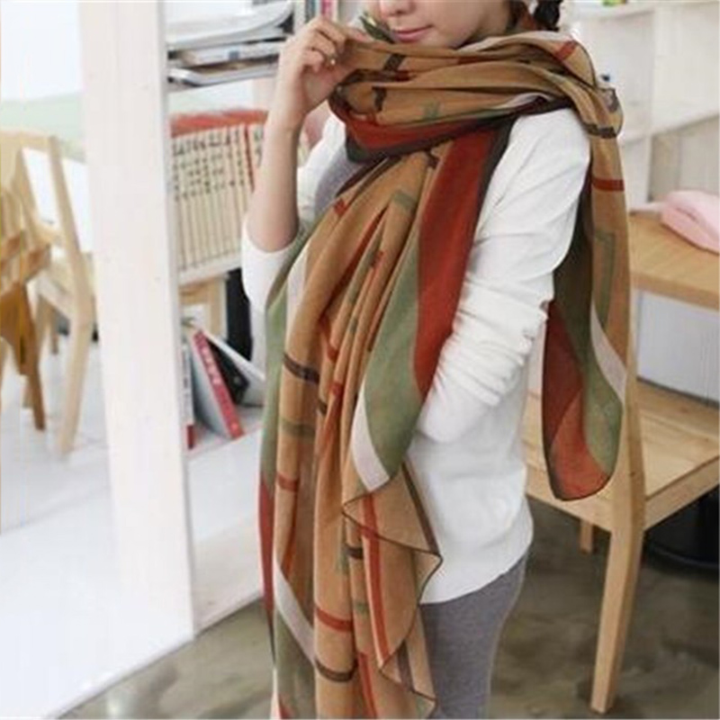 New Fashion Trendy Women's Long Print Scarf Wrap Ladies Shawl Girl Large Pretty Scarf Tole Beach Beauty Women Accessory Gifts