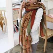 New Fashion Trendy Women's Long Print Scarf Wrap Ladies Shaw