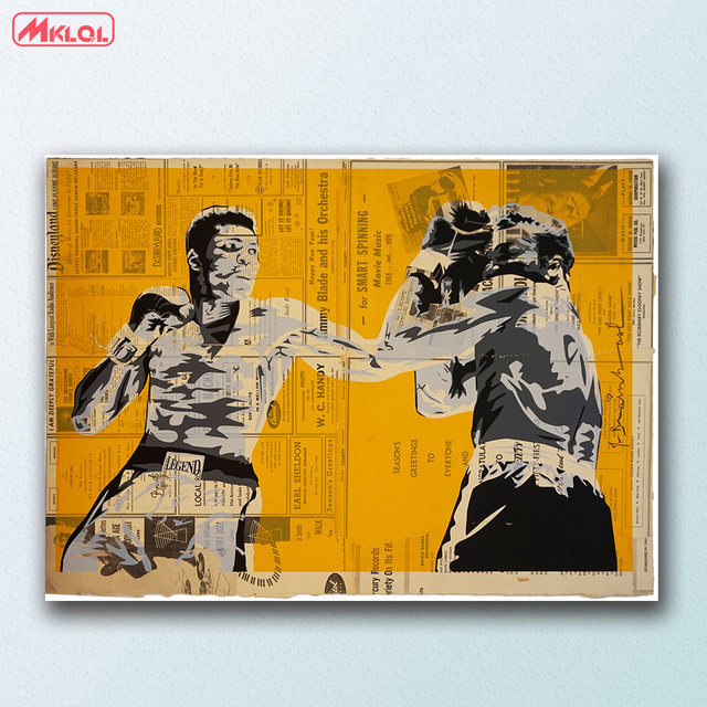 Large size wall art Legend Yellow Graffiti Canvas Painting For ...