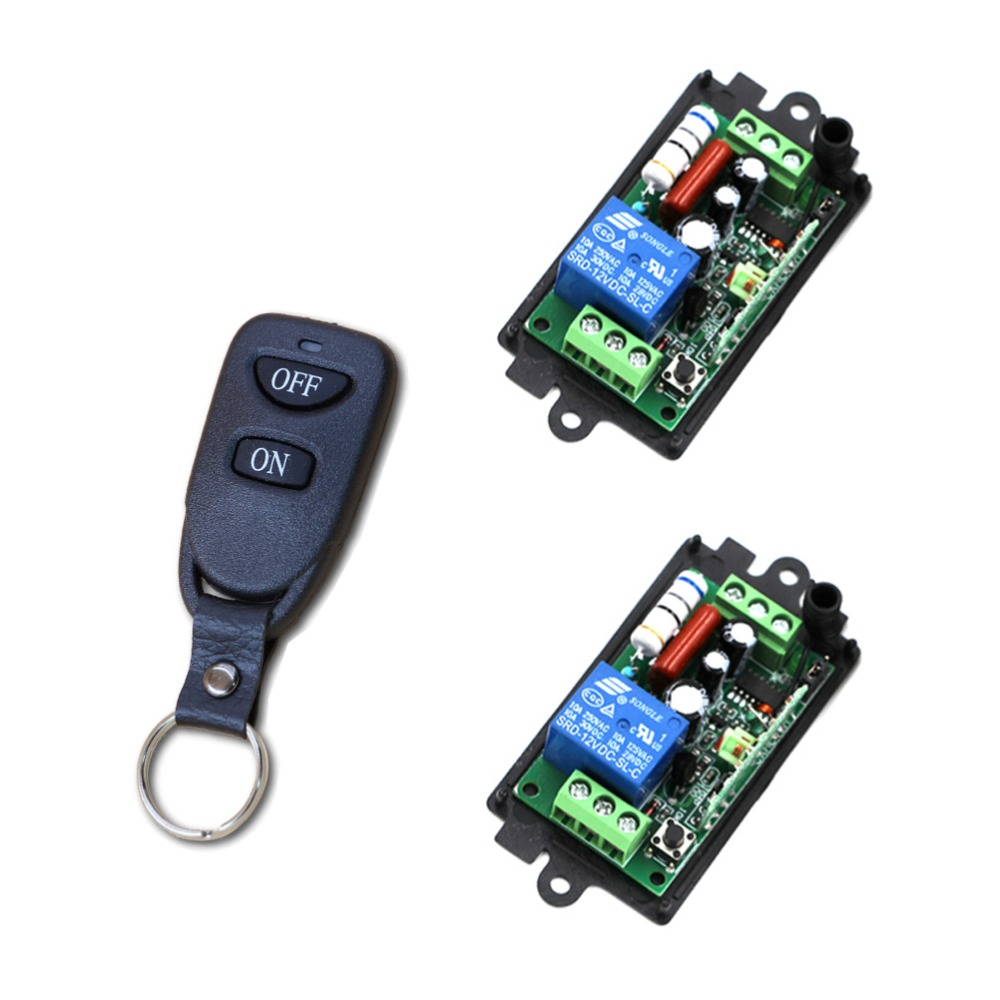 315/433MHZ RF Wireless Remote Control Relay Switch Security System 2 x Receiver with Case & 1 x Transmitter and ON/OFF Button 2 receivers 60 buzzers wireless restaurant buzzer caller table call calling button waiter pager system
