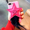 Lady Fashion Case On iPhone 6 6s & 6 plus 6s plus For iPhone 7 & 7 plus 3D Star Feather Mobile Phone Protective Women Back Cover