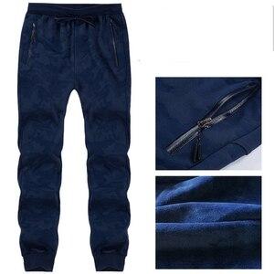 Image 2 - Pantalones de chándal de talla grande para hombre, pantalón cálido, con cintura elástica, de camuflaje, informal, grueso, de terciopelo, para invierno, 8XL, 7XL, 6XL, 5XL
