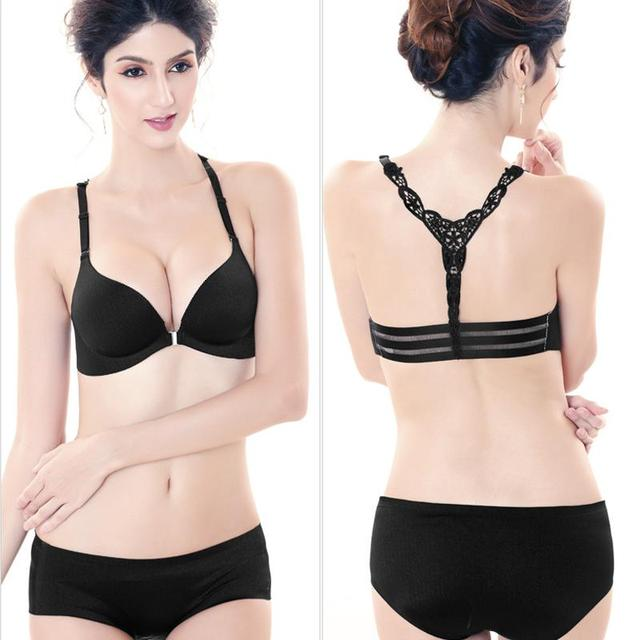 A Chip Non-trace Wiredrawing Underwear Sexy Beauty Back Before Gather Together A Bra Push Up Bra